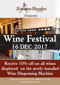 Le Wine Chambre Flyer December