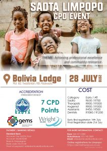 SADTA LIMPOPO CPD EVENT Update