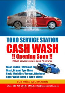 Toro Services Station Carwash Flyer 2