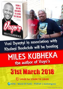 Vuyo's book function