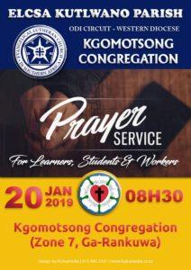 Kgomotsong Prayer Service Poster