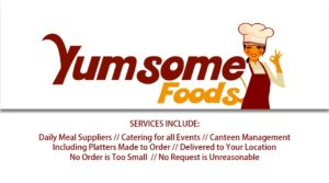 Yumsome foods Business card back