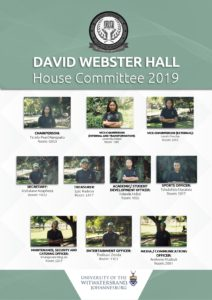 David Webster Hall House Committee 2019