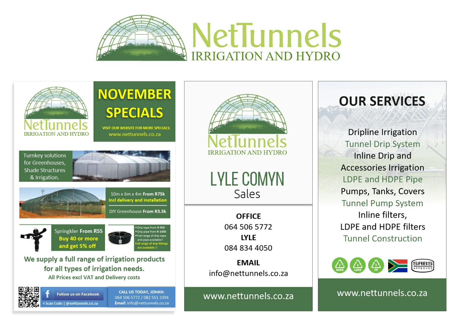 Net Tunnels Irrigation and Hydro Designs