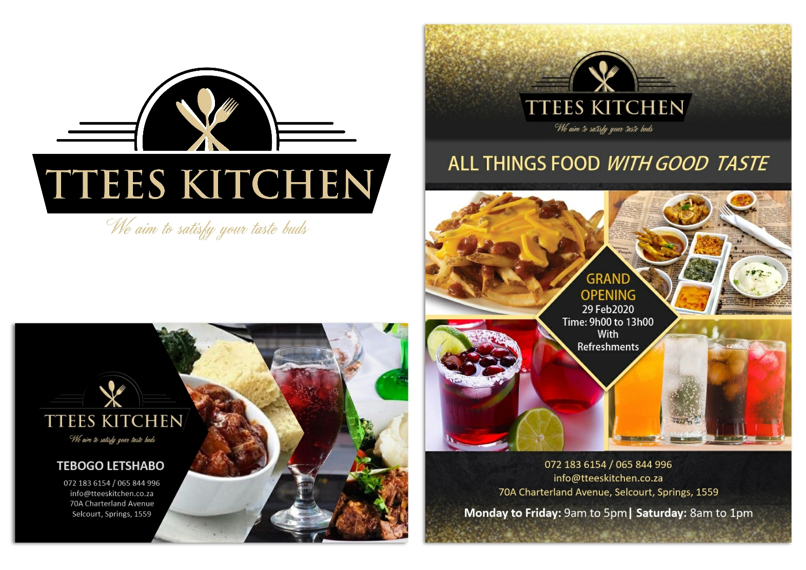 Ttees kitchen restuarant branding design set 1 by Kubumedia Pretoria